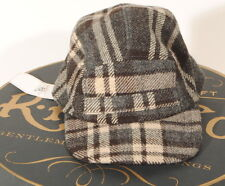 "RRL Double RL Plaid Wool Trapper Hat 100% Wool Shell Small 21"" NWT'S E3D"