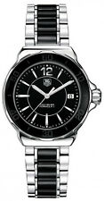 WAH1210.BA0859 BRAND NEW TAG HEUER FORMULA 1 LADIES CERAMIC SWISS BLACK WATCH