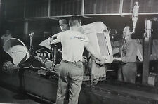 "Ford 8N Tractor assembly line. Installing hood 12X18"" Black & White Picture"