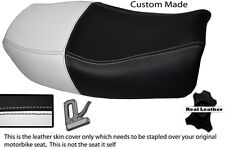 WHITE & BLACK CUSTOM FITS KAWASAKI ZR 750 ZEPHYR 91-99 DUAL LEATHER SEAT COVER