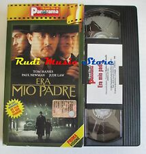 film VHS  ERA MIO PADRE Tom Hanks  Hanks cartonata PANORAMA 2002 (FP3)*  no dvd