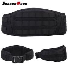 Airsoft Tactical Padded Molle Combat Waist Belt Paintball Battle Belt Gear Black