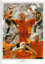 Signed Dean Windass Hull City Autograph Photo Montage Play Off Final 2008