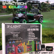LED Custom Golf Cart Lighting Under Glow Neon Lights Kit for Caddy Club Car EZGO