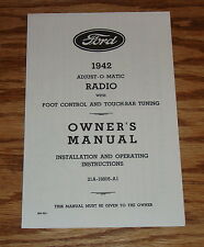 1942 Ford Radio Owners Installation Manual Instruction Book 42