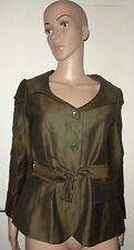 36 INCH BUST OLIVE GREEN SHORT SAFARI JACKET, BELTED,COUNTRY FASHION LTD, BNWT,