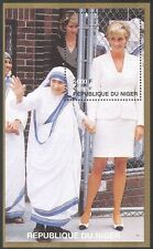 Niger 1997 princess diana/mère teresa/royalty/gens m/s b2888
