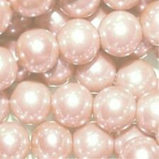 200 pieces 6mm Glass Pearl Beads - Pale Pink - A0955-A