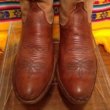 Vintage Dan Post Brown Leather Cowboy Western Boots Women's Size 6.5 C
