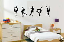 "wall sticker 5 FIGURES SKATING TRICK SIZE : 12"" HIGH EACH CUSTOM Silhouette"