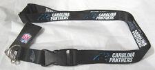 NFL NWT KEYCHAIN LANYARD - CAROLINA PANTHERS - CURRENT LOGO BLACK