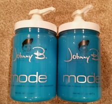 2 x Johnny B MODE Hair Gel 32 oz (lot of 2/32oz) with 2 FREE PUMPS!!!
