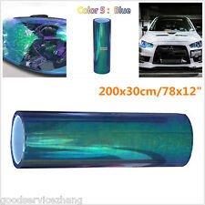 200cmx30cm Colorful Blue Car Headlight Tint Vinyl Wrap Film Sheet Cover Sticker