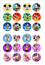 MICKEY & MINNIE MOUSE commestibili Fata Cup Cake Decorazione decorazioni per la Carta di Riso x 24