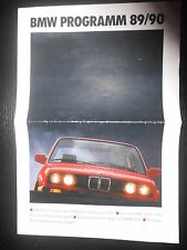 Prospekt Sales Brochure BMW Programm 1989 1990 316i 750i 318is 850i z1 318is