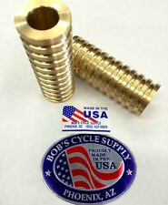"""CUSTOM HD HARLEY BRASS 3/4"""" X 3"""" SPRINGER AXLE SPACERS for DNA ULTIMA PAUGHCO"""
