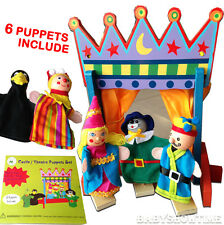 Wooden People Dolls Toys Castle Theatre Puppets Set DollsHouse People Characters