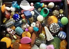 GRAB BAG- Kids Beads, Jewelry making,  Assorted sizes & shapes & colors, 1/3 lb.