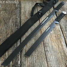 2PC HUNTING NINJA MACHETE KNIFE MILITARY TACTICAL SURVIVAL SWORD COMBAT 1613-2