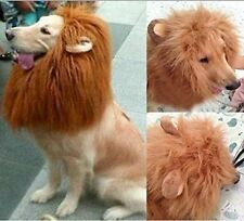 Pet Costume Lion Mane Wig with Ears for Dog Cat Xmas Clothes Fancy Dress up-L US