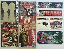 New England PATRIOTS Super Bowl 2003 2004 NFL Collector's Official Yearbook Lot