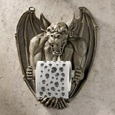 Gothic Medieval Flair Gargoyle Wall Mounted Bathroom Toilet Tissue Paper Holder