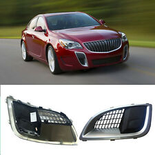 for Buick Regal/GS 2010-2016 Front Left+Right Fog Lights Cover+Frames (No Bulbs)