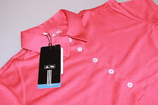 Onorevoli ADIDAS CLIMACOOL TECH S / S GOLF POLO SHIRT Punch ROSSO / BIANCO LOGO NUOVA MED 12