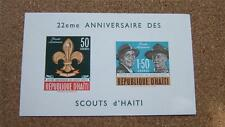 MNH SCOUTS OF HAITI IMPERF NINATURE SHEET