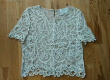 3.1 PHILLIP LIM brodé dentelle crochet blouse top
