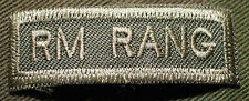 "CANADIAN ARMY COMBAT TAB UNIT BADGE  INSIGNIA  ""RM RANG""  BUY 1 GET 1 FREE"