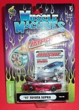 MUSCLE MACHINES - NEW - RED 1997 TOYOTA SUPRA - 1:64 - DIE-CAST