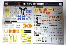 HASBRO TRANSFORMERS TITANS RETURN STICKER OPTIMUS BLASTER SENTINEL GALVATRON etc