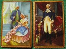 Betsy Ross Sewing American Flag & George Washington Vintage Swap Cards MINT WOW