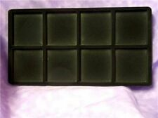 LOT OF 6  8 SLOT FLOCKED INSERT FOR LARGE DISPLAY TRAY