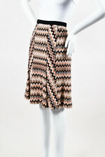 Missoni NWOT Pink Black Gray Wave Pattern Knit Skirt SZ 44