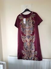 Gerry Weber Size44 Purple Short Sleeved Dress Fully Lined REDUCED FURTHER