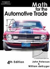 Math For The Automotive Trade by John Peterson
