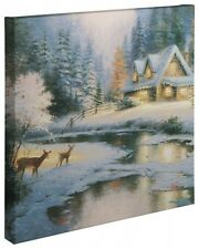 "Thomas Kinkade Wrap - Deer Creek Cottage – 20"" x 20"" Wrapped Canvas"