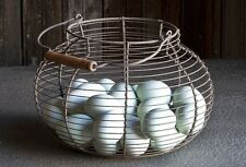 Farmhouse Wire Gathering Basket~Egg Basket