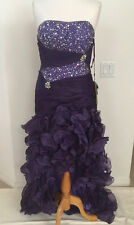 Purple Sexy Ball Gown Dress Party Gala Prom Long/Short  Evening Pageant SZ 12