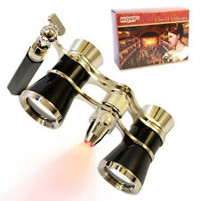 HQRP Opera Theatre Binocular 3x25 Glasses Optics Coated Lens Prism with Handle