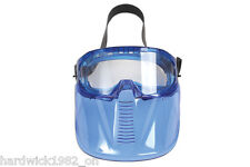 SAFETY GOGGLES WITH DETACHABLE FACE SHIELD - ADJUSTABLE STRAP FULL FACE PROTECT