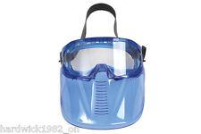 Gafas ajustadas de seguridad con cara desmontable Escudo-Correa Ajustable facial completa proteger