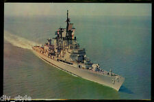 USS Luce DLG-7 postcard  US Navy guided missile frigate