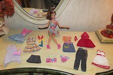 Articulated Barbie Doll Clothes Lot Articulated Brown Hair Teresa Dress Shoes