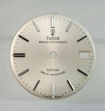 Tudor Prince by Rolex 1970s OysterDate Rotor Self Winding Silver Watch Dial Part