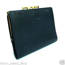 Auth BALLY Bifold Wallet Black Kangaroo Leather Made in Australia Vintage