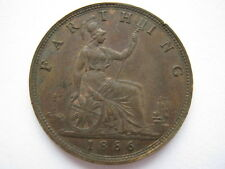 1886 Victoria Farthing, A UNC.