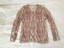 Zadig & Voltaire Blush Corto Print Sweater M w Skull Buttons